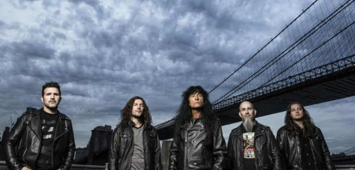 LEFT TO RIGHT:  Charlie Benane, Frank Bello, Joey Belladonna, Scott Ian, Jonathan Donais