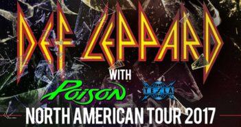 Def Leppard Poison Tesla 2017