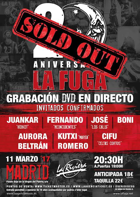 FUGA sold out