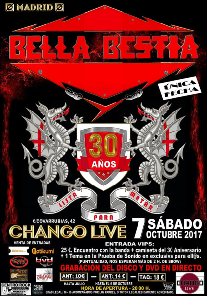 BELLA BESTIA grabación DVD_420x600