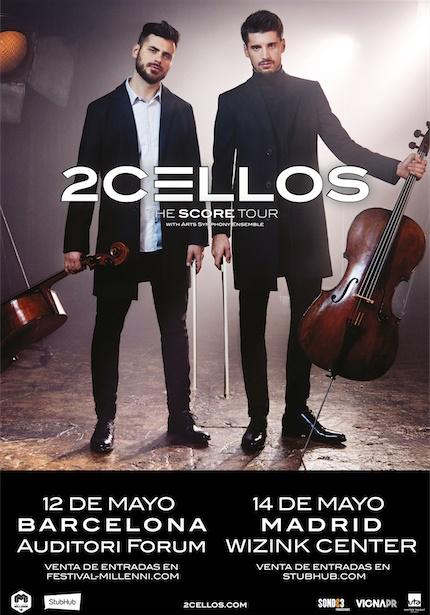 2 cellos anuncian conciertos en madrid y barcelona en mayo for Eventos madrid mayo 2017