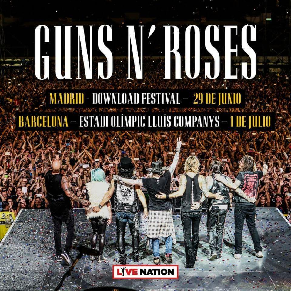 Guns N' Roses gira España 2018