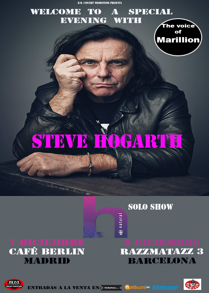 Steve Hogarth (Marillion Voice) 8 Dec 2017
