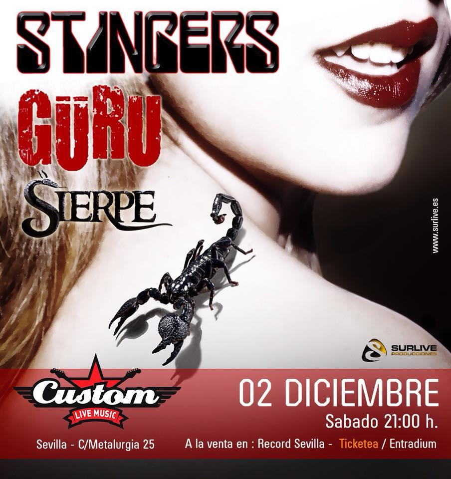 Güru + Stingers + Sierpe - Sala Custom 2-12-17 - Sevilla