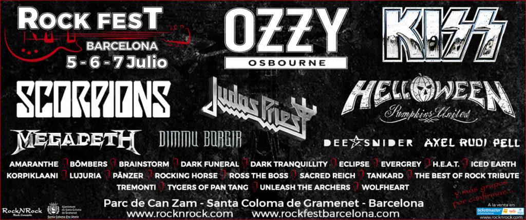 ROCK FEST BARCELONA: Distribución de bandas y venta de entradas por día
