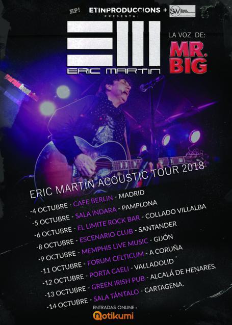 ERIC MARTIN ACUSTICO 2018-todas las fechas