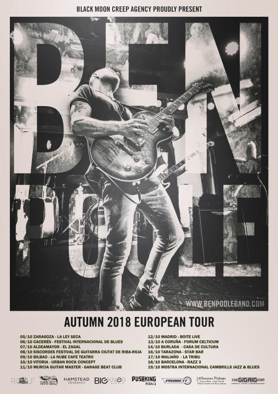 Ben Poole Spanish Tour 2018