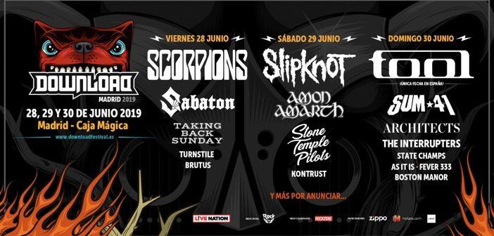 Download Festival Madrid 2019: Distribución por días