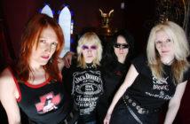 THE LEGENDARY HEAVY METAL / HARD ROCK BAND GIRLSCHOOL IN CAMDEN 24 MARCH 2004.  PHOTO BY TINA KORHONEN