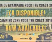 Zona de acampada ROCK THE COAST 2019 ya disponible y distribución por días