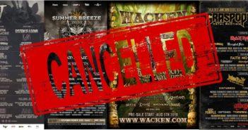 Festivales cancelados
