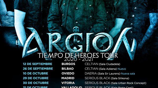 ARGION anuncia su gira 'Tiempo de Héroes Tour 2020-2021'